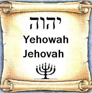 Gods heilige Naam Jehovah op de boekrol