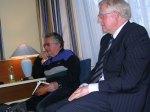 Ouderlingen die de doopplechtigheid inleiden op een speciale bijeenkomst (Doopsel te Leuven in 2005)