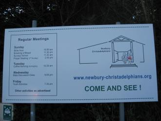 Newbury Sign Board