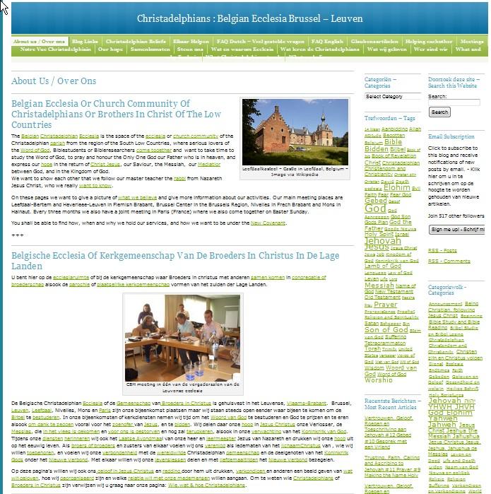 Christadelphian Ecclesia Brussel-Leuven - About-Over Nov. 14 11.45