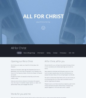 All for Christ, a website started in 2015, February 8, to show people the reason of the importance of Christ Jesus for us all, and how we all should come to follow him, who is the Way to Jehovah God