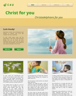 C4U: Christ For You & Christadelphians For You, started on 7 February 2015