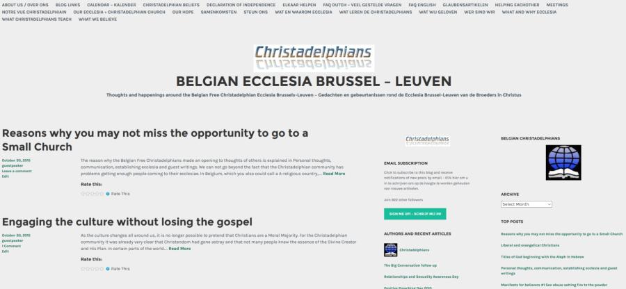 Tussenstap 2015 vernieuwing Ecclesia site