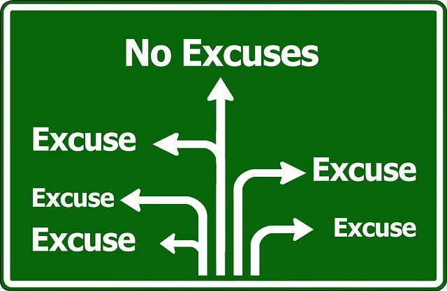 No Excuses or Excuse Road sign