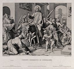 Christ_enters_Jerusalem_on_an_ass._Etching_by_F.P._Massau