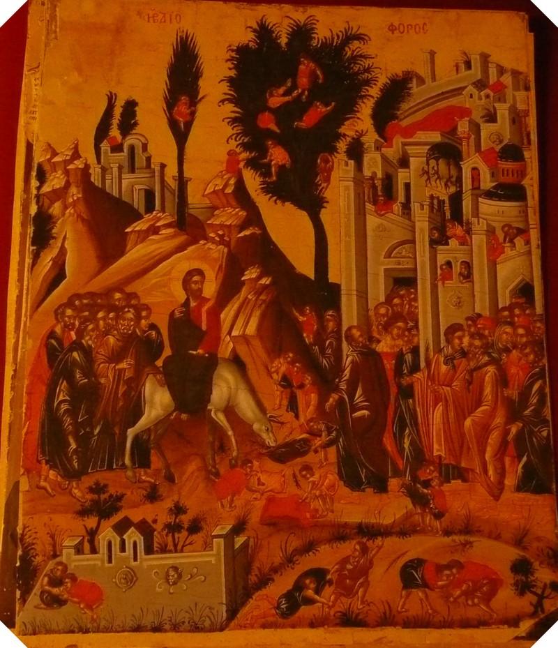 Jesus entrance in Jerusalem. - Jezus intocht te Jerusalem