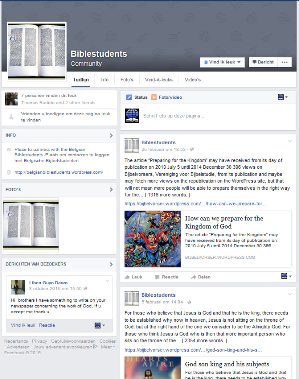 Biblestudents Facebook Page