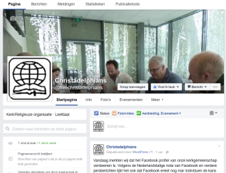 2016/07/11 Start of a new Facebook page, from the Belgian Christadelphians