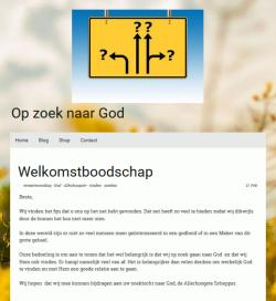 Op zoek naar God (Looking for God) (Jimdo website)