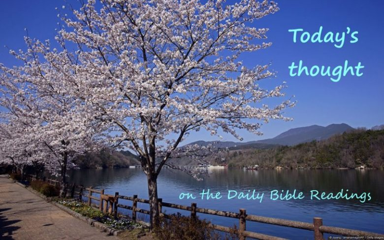 "Today's thought ""Lift up your eyes and see – God shall know it"" (January 18)"
